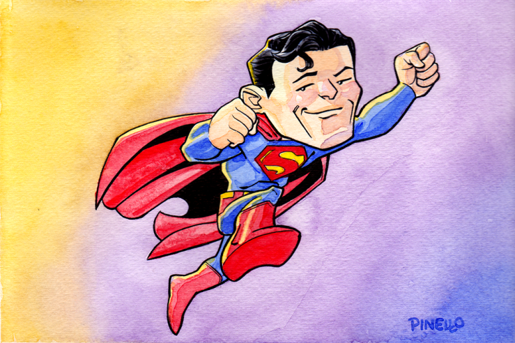 superman watercolor 6x9 web